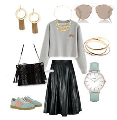 """Long skirt"" by jalepe on Polyvore featuring mode, CLUSE, River Island, Christian Dior, Stephanie Kantis, adidas Originals, Cartier et Liz Claiborne"