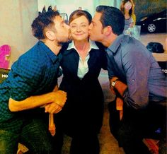 a few more of my favorite people. ♡ Joshua Gomez Bonita Friedericy and Zachary Levi