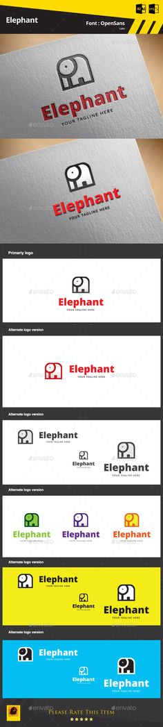 New approved logo... Elephant Logo Template... pls visit and comment...