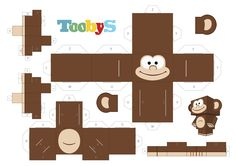 Toobys - monkey paper toy - www.toobys.tv