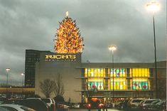 The annual Christmas tree atop Rich's Lenox Square, Atlanta, GA