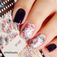 1 sheet BORN PRETTY Nail Water Decals Flower Leaf Feather Designed Transfer Stickers Nail Art Sticker BP-W 23 patterns available