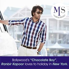 """Bollywood's """"Chocolate Boy"""", Ranbir Kapoor loves to holiday in New York. Having spent many years studying in the """"Big Apple"""", Ranbir often visits the city to spend time with his friends. Another one of his favourite holiday destinations is Italy, a country he fell in love with while shooting for """"Bachna ae Haseeno"""". Hit Like if you too Love Paris and New York."""