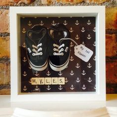 My first shoes, we created this for our little boy.
