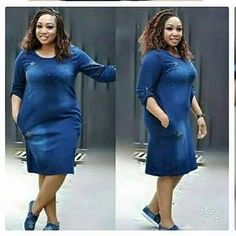 African Fashion Dresses, African Dress, Office Outfits, Office Wear, Big Girl Fashion, Womens Fashion, Full Figured, Traditional Dresses, Fashion Addict