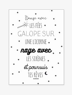 Decorate your child's room with these magnificent stickers bearing a message worthy of the most beautiful fairy tales! With words, stars and moons, you decide what message to write! DIMENSIONS 50 x 70 cm. Can only be app French Words, French Quotes, Funny Christmas Cards, Christmas Humor, Positive Attitude, Positive Quotes, Sticker Citation, Messages, Kids Stickers