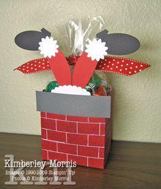 Stampin' Up! Fancy Favor Box Kimberley Morris Santa Christmas