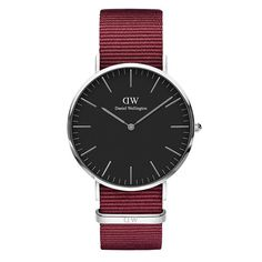 Daniel Wellington Classic Cornwall Black - Horloge - NATO - Zwart - Ø 36 mm. De Classic Classic Black Cornwall Silver is een dun horloge. Daniel Wellington Classic, Daniel Wellington Watch, Nato Armband, Dw Watch, Black Nylons, Stainless Steel Watch, Fashion Watches, Fashion Brand, Accessories