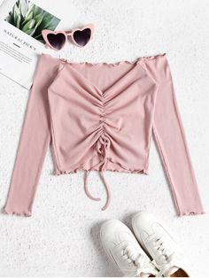 Style: Fashion Shirt Length: Short Collar: Off The Shoulder Sleeves Length: Full more? off shoulder top outfit classy Off The Shoulder Top Outfit, Blue Off Shoulder Top, Shirts & Tops, Plain Shirts, Pink Tops, Black Tops, Skinny, Chemise Fashion, Crop Tops