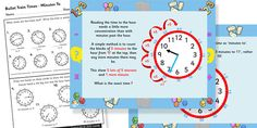Free Printable Telling the time. Powerpoint and worksheets. Free for 24hours!