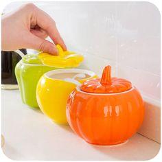Creative Kitchen vegetables modeling ceramic spice jar, fashion seasoning box  #HYSOO