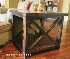 Handcrafted Farmhouse End Table - Solid Wood