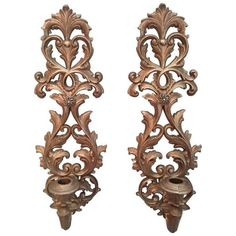 Burwood Baroque Wall Sconces - A Pair ($89) ❤ liked on Polyvore featuring home, lighting, wall lights and sculptural wall objects