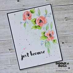"""ALTENEW: Painted Flowers (4""""x 6"""" Clear Photopolymer Stamp Set) This package contains Painted Flowers: twenty six individual image stamps."""