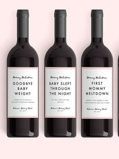 New Mom Gift Wine Labels From 4 Labels Mommy by LabelWithLove