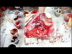 Video (3) Purple Acrylic Fluid Dirty Pour - YouTube