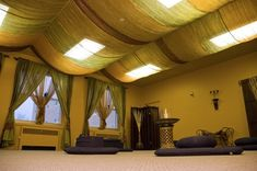 Drapes to cover fluorescent panels