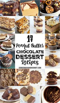 Peanut butter and chocolate make the perfect combo of sweet and salty that every dessert needs! Do you love peanut butter chocolate dessert recipes too? #chocolatepeanutbutter #peanutbutter #chocolate #recipeideas #dessertfoodrecipes #dessertrecipes #desserttable #choctoberfest