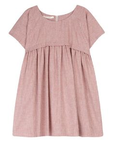 Love the cut and muted red color. The short kind of cap sleeves are very pretty!