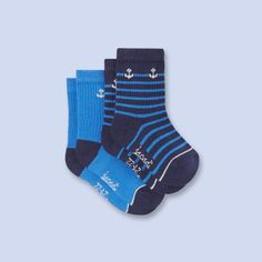 Anchor print socks set