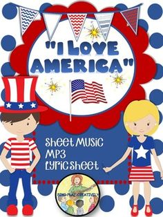 "Patriotic Song ""I Love America"" is a song for early elementary age children.It would be great in a program or as a stand alone performance.""America, I love you"" is the favorite line for the children to sing."