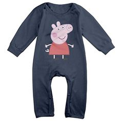 Cotton Baby Long Sleeve Onesies Toddler Bodysuit Navy Peppa Pig2 Babysuits - Brought to you by Avarsha.com