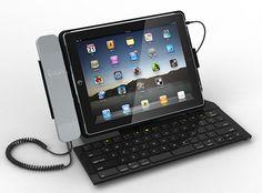 iPega Skype Bluetooth Keyboard with Wired Telephone - iPega iPad Ahizeli Klavye :: Yerinde Sipariş
