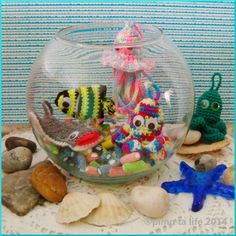 under the sea .... porte clefs #amigurumi #kawaii #cute #crochet by : ®pimp ta life 2014
