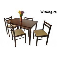 Set masa cu 4 scaune WIZ MB-16 Outdoor Furniture Sets, Outdoor Decor, The Wiz, Home Decor, Decoration Home, Room Decor, Home Interior Design, Home Decoration, Interior Design