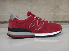 new product 0c91a 1cbc1 Best New Balance 996 Suede Grey Black Red men shoes Cheap New Balance, New  Balance