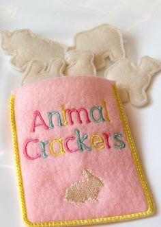 FUN felt food animal crackers set of 5 crackers by LinusAndFiona, $8.00