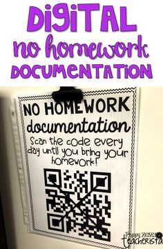 No homework tracking form! Easy peezy way to track, and it's completely digital.