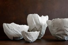 Paper clay objects by Paola Paronetto