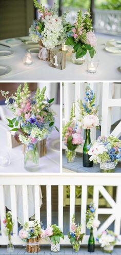 Just love these fun spring arrangements!
