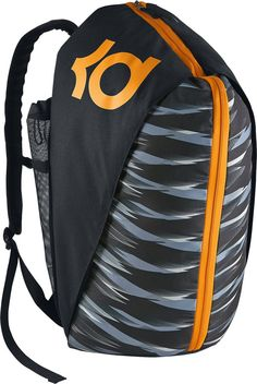 Nike mens KD MAX AIR VIII BACKPACK BA5067-013 - BLACK BLACK VIVID ORANGE.  Kevin Durant Max Air VIII Backpack. With its duffle-like opening, this  basketball ... 95a6795f7a