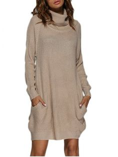 GET $50 NOW | Join RoseGal: Get YOUR $50 NOW!http://www.rosegal.com/sweater-dresses/chic-turtleneck-loose-fitting-front-pocket-825480.html?seid=5988531rg825480