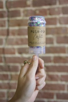 Push-pop confetti send-off
