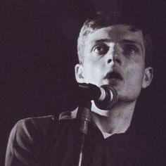 Ian Curtis of Joy Division – The Factory:Russell Club, Manchester, 13.07.1979