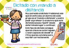 tipos de dictado (5) Spanish Class, Learning Spanish, Teacher Tools, Teaching Resources, Preschool, Language, Classroom, How To Plan, Education