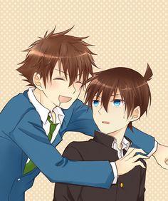 I think Shinichi looks like Haru here....