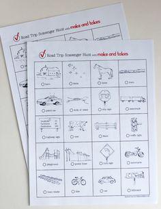 Road Trip Scavenger Hunt Printable for Kids