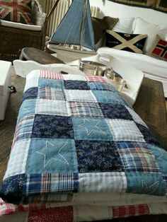 denim star quilt - so simple, so beautiful