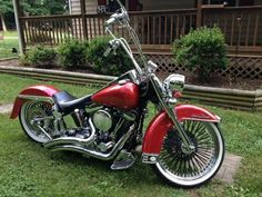 1996 Harley Heritage Softail Custom Paint, Air Ride Suspension, Vance Pipes, 1340 CC