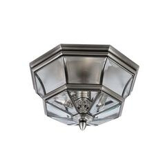Quoizel Newbury Outdoor Flush Mount in Pewter - BedBathandBeyond.com