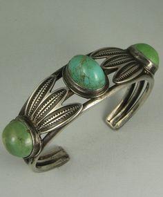 Navajo 3 Cerrillos Mine Turquoise Bracelet w/Feathers Etsy Jewelry, Jewelry Art, Fashion Jewelry, Jewelry Design, Silver Jewellery, Indian Jewelry, Jewelery, Navajo Jewelry, Ethnic Jewelry