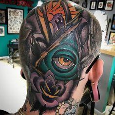 Photo by (_christianinkk) on Instagram |  #tattoos, #tattooed, #tattoo2me, #tattooink, #tatted, #tattedup, #tattooideas, #tattooart, #headtattoo, #headtattoos, #allseeingeye, #allseeingeyetattoo, #illuminati, #woke, #thirdeye, #va, #vb, #vbtattoo, #vatattoo, #inklife, #inkklife