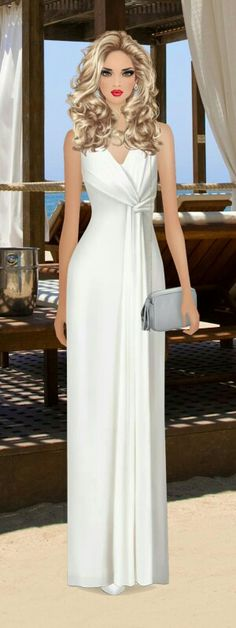Monaco Beach Champagne Lunch Stunning Prom Dresses, Covet Fashion Games, Fashion Design Sketches, Moda Fashion, Chic Outfits, Marie, Evening Dresses, Girls Dresses, Dresses With Sleeves