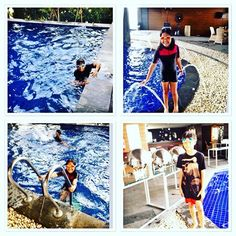 Swimming again , gak bosen bosen sih nak  #holidayseason#offtoschool#swimmingpool#swimmingtime#amaroossagrande#happyholiday#instagram_kids#letsswim#mydaughter#myson