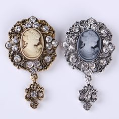 Find More Brooches Information about 2016 Beauty Head Women Brooch Corsage Pin…