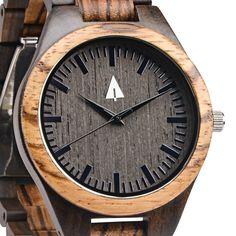 Zebrawood + Ebony   All Wooden Watch